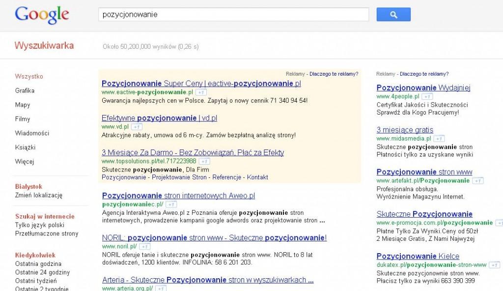 Nowy interfejs Google